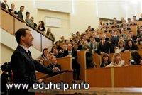 Медведєв чекає конкретних пропозицій щодо вирішення проблеми підтримки вузів